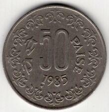 1985 INDIA 50 PAISE  WORLD COIN NICE!