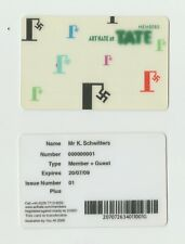 BILLY CHILDISH ART HATE @ THE TATE MEMBERS CARD 2009 HARRY ADAMS SCHWITTERS