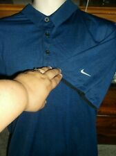 New Men's Polo Shirt, Nike Golf  Nike Dri-Fit  Sz XL  Blue S/S 100% Polyester