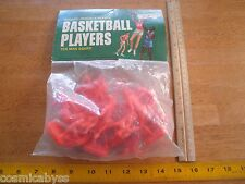 1970's plastic Basketball Players figures set MIP 10 men