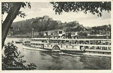 Schiff, Rhein-Dampfer Cecilie bei Ehrenbreitstein, Koblenz, alte Ak um 1930