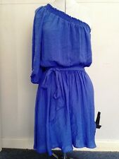 Women's BLUE asymmetrical dress - size 10