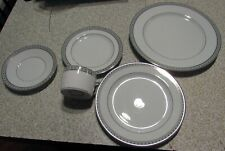 Christofle Babylone Gris 5pc Place Setting Porcelain China Dinnerware New Open