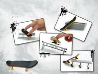 1PCS finger skateboard + 4PCS slide rack Fingerboard Rail Skate Board Ramp Parts
