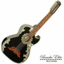 Paracho Elite Belleza 12 String Bajo Sexto Satin Black Ebony Acoustic Guitar New