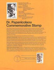 #7811 13c Pap Test Stamp #1754 USPS Souvenir Page