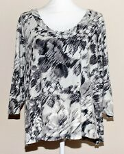 St. John's Bay Ladies Womans Blouse Top Size 1X 3/4 Sleeve