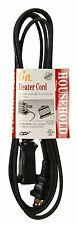 Coleman 09336 24 Pk 16/2 6ft. Black Heater and Appliance Cord for Non-Polarized