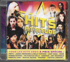 CD COMPIL 21 TITRES--HITS ATTITUDE--PEP'S/LADY GAGA/SUPERBUS/DUTRONC/SOLVEIG...