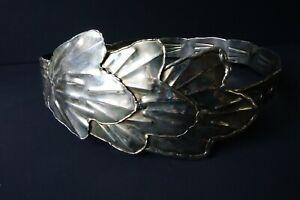 Vintage Fantasy Metal Leaf Shaped Corset Waist Cincher Wide Belt Fairy Elf