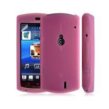 Housse coque étui en silicone pour Sony Ericsson Xperia Kyno couleur rose + film
