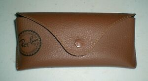 Ray Ban Genuine Eye Glasses/Sunglasses Brown Cover Case CASE ONLY