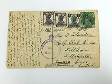 More details for ww2 1942 raoc soldier postcard from india to uk with passed by censor stamp