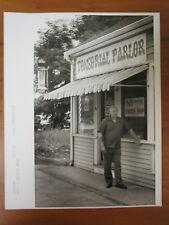 Vintage Glossy Press Photo 1986 Sudbury MA Barber Shop