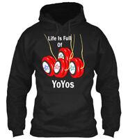 Life Is Full Of Yoyos - Gildan Hoodie Sweatshirt