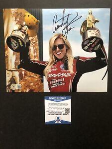 Courtney Force autographed signed 8x10 photo Beckett BAS COA NHRA Sexy Hot Rare
