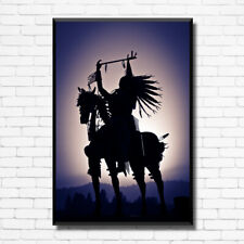 LONLEY INDIAN Horse Home Wall Art Print Decor Gift CANVAS / POSTER