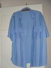 Men's Blue stripe Shirt Size XXL