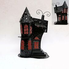 "Halloween Haunted House Tealight Candle Holder Decoration ""Haunted Mansion"""