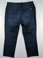 Chico's Women's Jeans Size 1 So Slimming Skinny Capri Dark Wash Stretch Denim