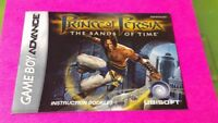 Prince Persia Sands -  Nintendo Game Boy Advance Instruction MANUAL ONLY No Game