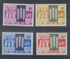 Congo DR 1963 Freedom from Hunger Sc B48-B51 MNH.
