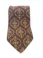 Men's Valentino Cravatte Burgundy Floral Paisley 100% Silk Neck Tie, Italy