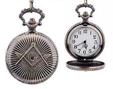 Masonic Regalia - Antique Style Masonic Pocket Watch / Mason Square and Compass
