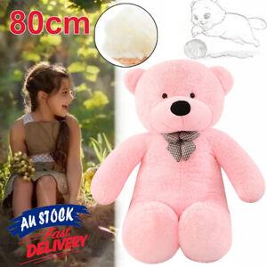 80cm Stuffed Giant Pink Christmas Doll Animal Gift Bear Plush Teddy Cuddly ACB#