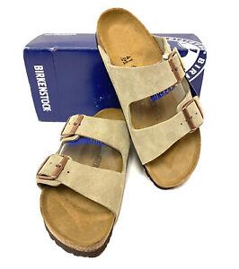 Birkenstock Arizona Women's Size 10 (EU41)N Taupe Suede Leather Sandals S1-356