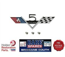 HOLDEN HK HT 307 CHEV ENGINE 5 LITRE GUARD BADGE  MONARO GTS AND ALL MODELS