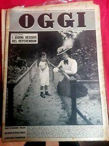 Rivista Settimanale OGGI Anno 1952 Lotto di 8 numeri In Perfette Condizioni