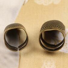 Retro DIY Hand Sewing Thimble Finger Shield Protector Metal. Ring J0N5