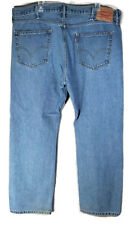Levis 505 Blue Jeans Size 42x30 Regular Fit Straight Leg