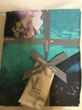 West Elm Organic Tencel  King Duvet NWT! Watercolor Floral