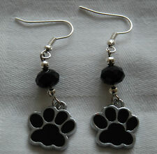 Hand Made Unique Enamel Blue Dog Paws Earrings for Dogs Lovers Stoppers D06