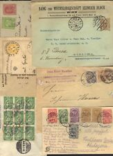 AUSTRIA HUNGRY 1880-1920s COLL OF 10 COMM CVRS & CARDS W/EXPRESS RAILWAY STATION