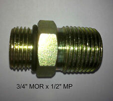 "Hydraulic Adapter, Steel O Ring Adapter - 3/4"" MOR x 1/2"" MP"