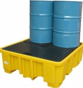 NEW LARGE DRUM BUND WITH PLATFORM FOR DRUMS AND VARIOUS JERRICANS OIL LIQUIDS