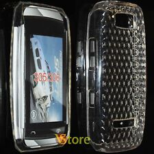 Cover For Nokia Asha 305 306 Gel Silicone TPU Clear Diamond