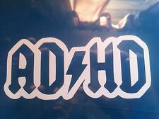 ADHD rock ACDC style Vinyl Decal Sticker euro jdm drift  LOT OF 2 decals