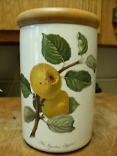 "PORTMEIRION POMONA INGESTRIE PIPPIN (GOLDEN APPLE) 7"" JAR W/LID VERY RARE & EXC!"
