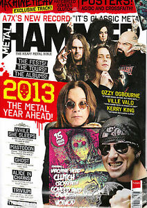 METAL HAMMER February 2013 +CD +AC/DC / CROSSFAITH Poster HATEBREED Chthonic New