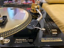 Technics SL-1200 LTD 24k gold turntable, rare limited edition Japan