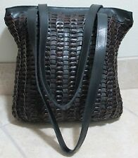 Handcrafted VINTAGE Woven Circle Link Leather Shoulder Bag/Tote ~ GORGEOUS!!~