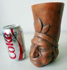 HEAD Mayan Mexican american Indian Mug Navajo Aztec bust statue cup bust art