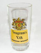 Seagram's V.O. Canadian Whisky Glass / Mid-century era Bar Glass / NY Estate