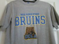 "UCLA ""We Are The Bruins"" Bear T- Shirt Large Gray Blue /Gold Cotton Small NCAA"