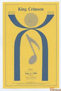 King Crimson Handbill 1984 Jun 3 Santa Cruz Civic Auditorium