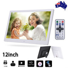 2019 HD 12'' LED Digital Photo Frame Picture Alarm Clock MP4 Movie Player